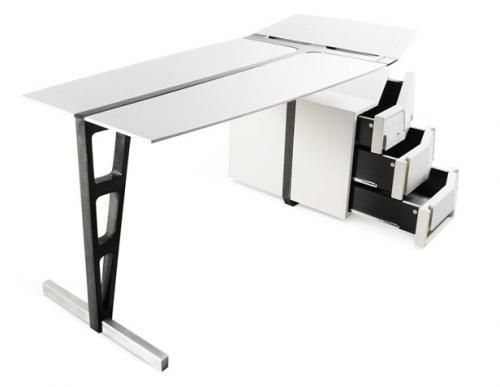 un bureau futuriste blog d co design. Black Bedroom Furniture Sets. Home Design Ideas