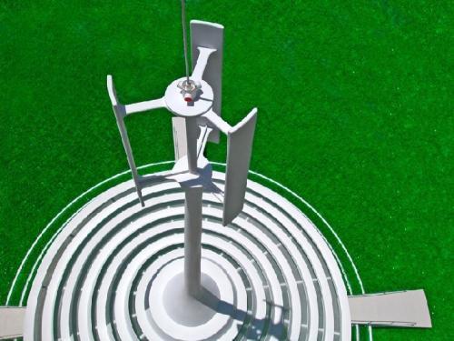 pavillon solaire éolien