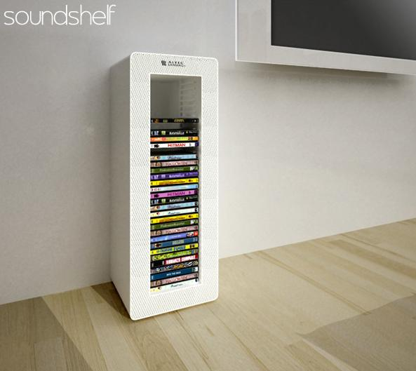 soundshelf l 39 enceinte tag re blog d co design. Black Bedroom Furniture Sets. Home Design Ideas