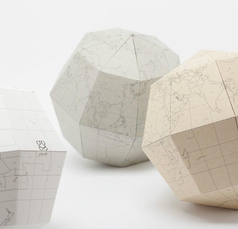 mappemonde en papier geografia par drill design blog d co design. Black Bedroom Furniture Sets. Home Design Ideas