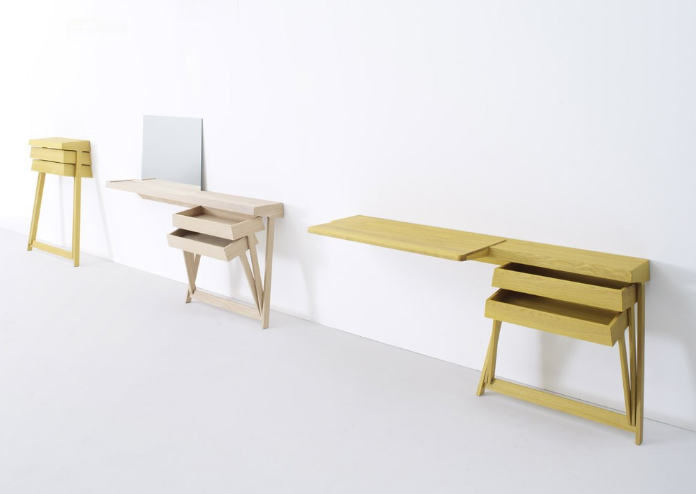 bureau et coiffeuse par shay alkalay blog d co design. Black Bedroom Furniture Sets. Home Design Ideas