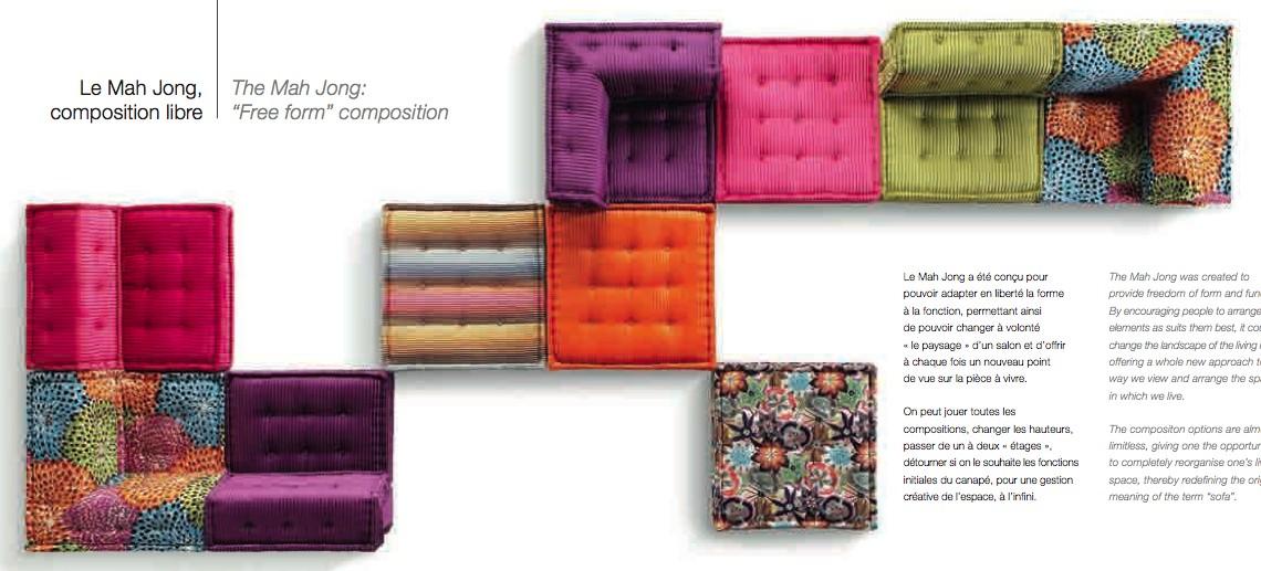 canape roche bobois mah jong 3 blog d co design. Black Bedroom Furniture Sets. Home Design Ideas