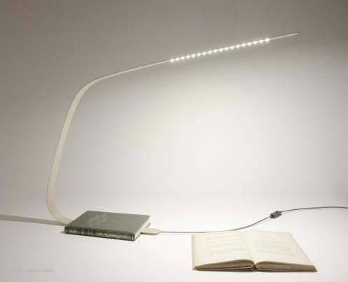 bookmark lamp la lampe marque page par leonard kadid blog d co design. Black Bedroom Furniture Sets. Home Design Ideas