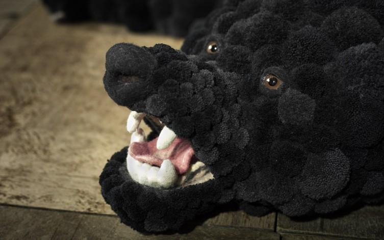 bommel bearskin un tapis en pompon en forme d 39 ours par myk blog d co design. Black Bedroom Furniture Sets. Home Design Ideas