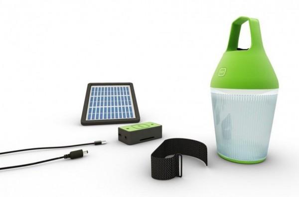 Lampe solaire portable rechargeable nomad par alain gilles - Lampe solaire exterieur design ...