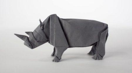 origami-rhinoceros