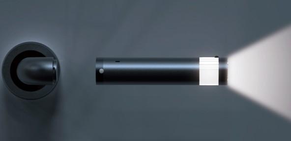 Ledoorhandle une poign e de porte avec une lampe int gr e - Poignee de porte avec serrure integree ...