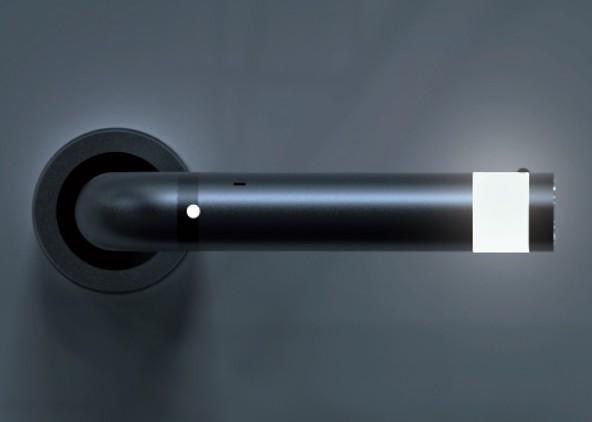 ledoorhandle une poign e de porte avec une lampe int gr e blog d co design. Black Bedroom Furniture Sets. Home Design Ideas