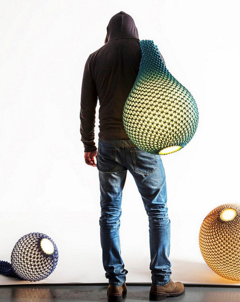 Lampes Knitted Par Ariel Zucherman Et Oded Sapir Blog Deco Design