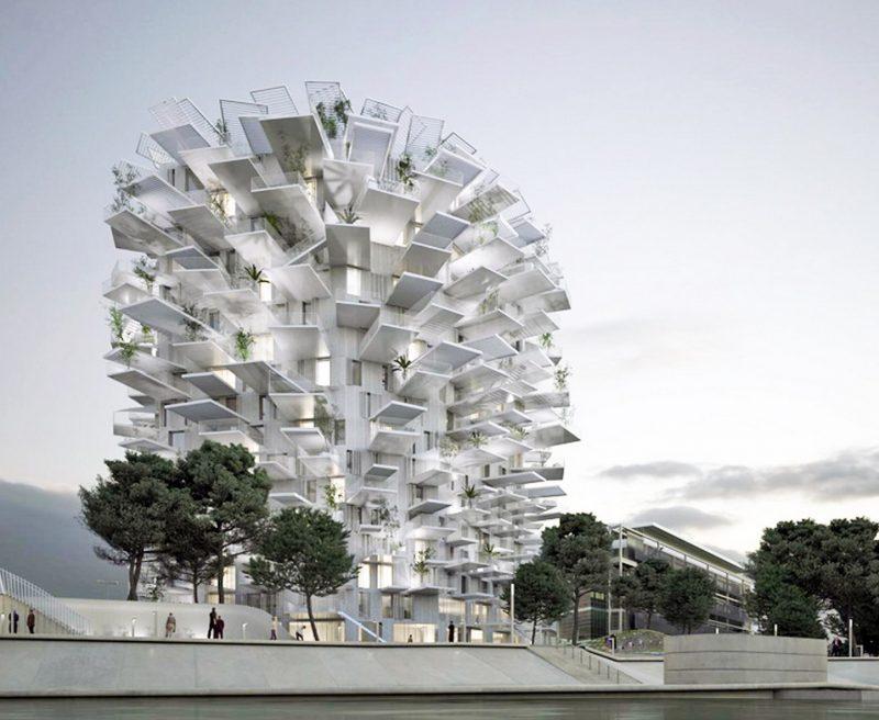 immeuble de l 39 arbre blanc montpellier blog d co design. Black Bedroom Furniture Sets. Home Design Ideas