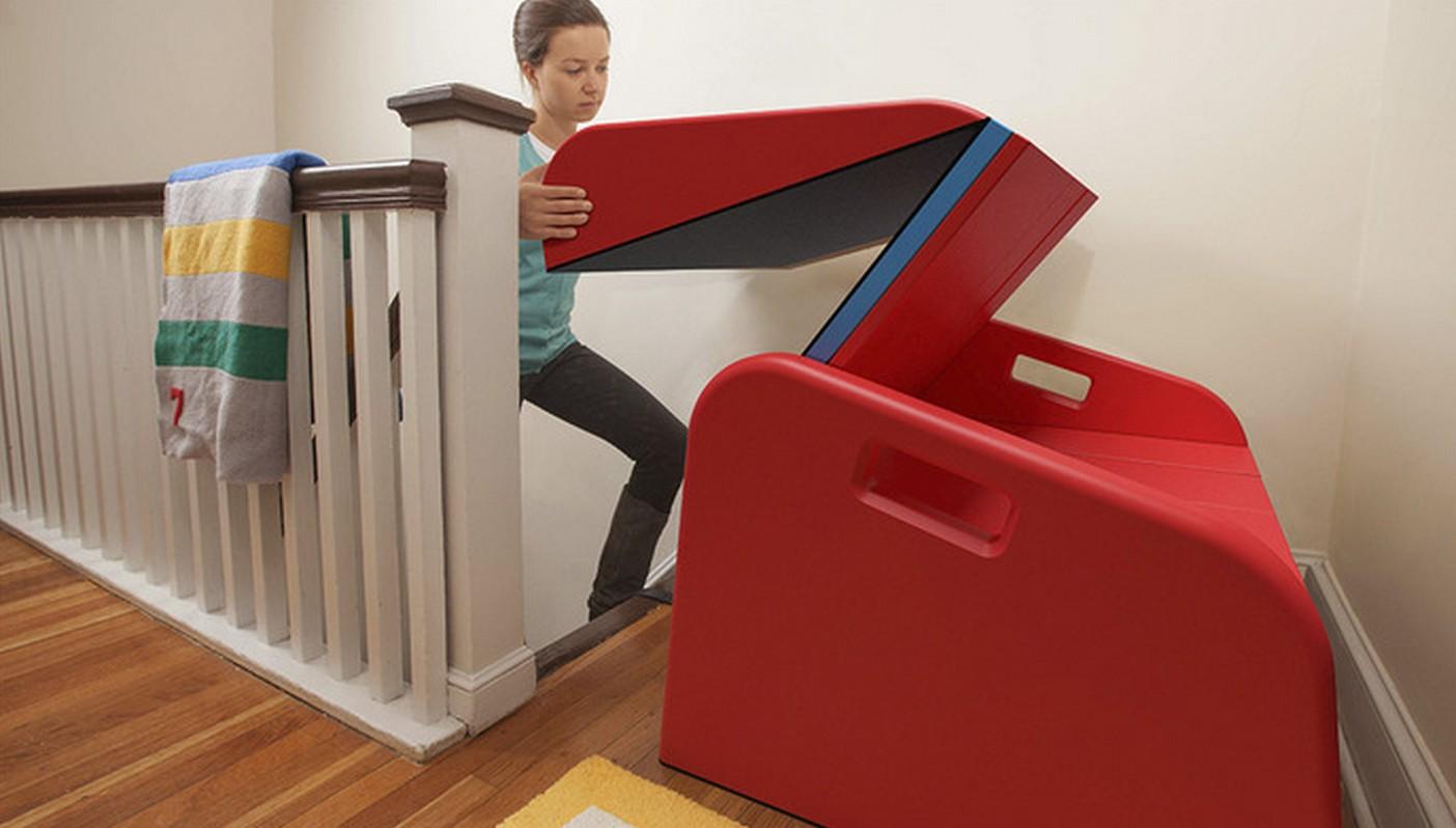 Ne montrez surtout pas ce produit vos enfants car ils for Toboggan escalier