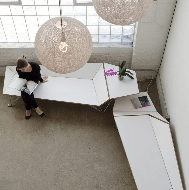 banc design interieur banc design interieur banc nelson bench banc origami par black lab. Black Bedroom Furniture Sets. Home Design Ideas