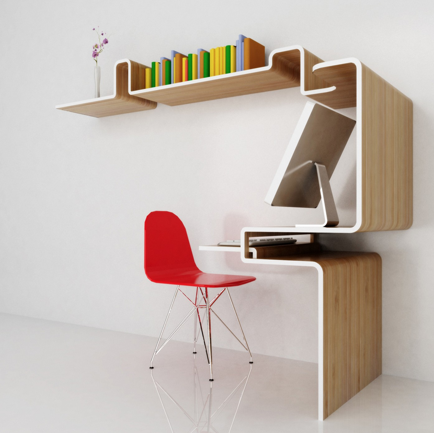 Meuble bureau etagere 3 blog d co design for Meuble bureau 64