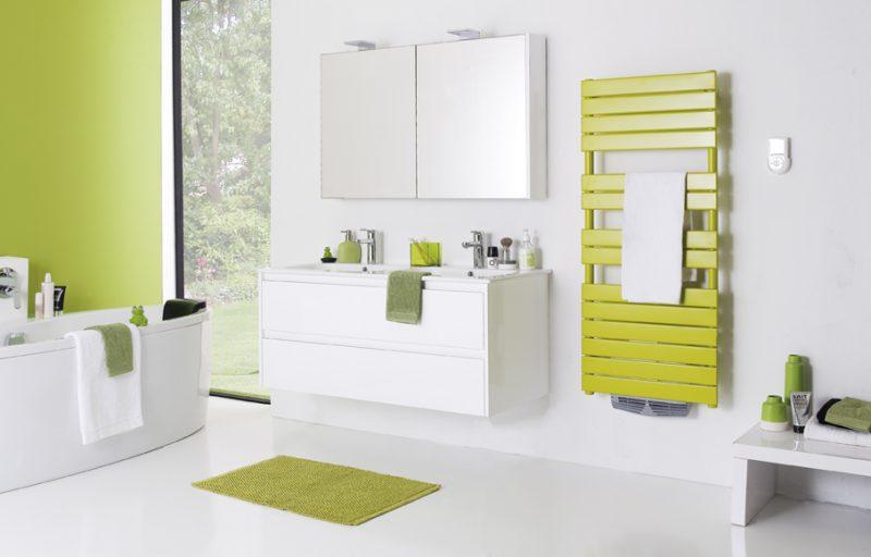 article sponsorisé : atlantic met de la couleur dans ses sèches ... - Chauffer Une Salle De Bain Avec Un Seche Serviette