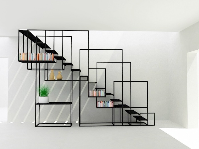 Escalier square staircase par amir zinaburg blog d co design - Deco design discount ...